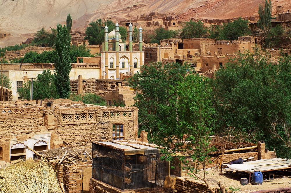 Tuyoq, village du désert de Taklamakan
