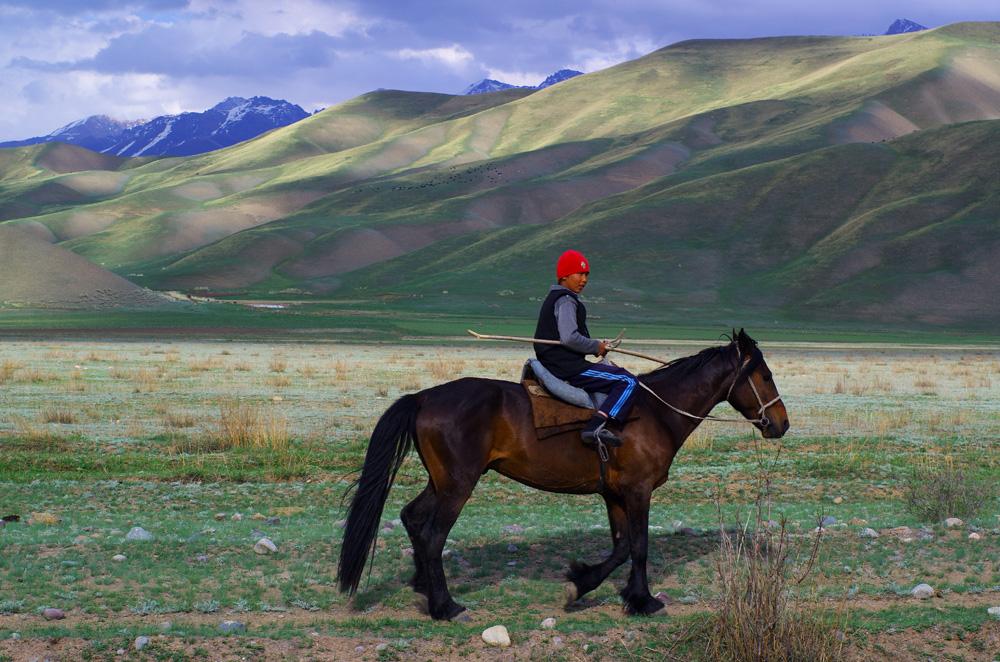 Dès le plus jeune âge, les enfants sont familiarisés avec le moyen de locomotion qui reste encore le plus commun dans la région : le cheval. Et quels chevaux : de beaux et grands étalons musclés qui partent au galop pour nous tenir compagnie.