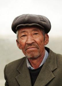 Portrait d'un homme au Kirghizstan