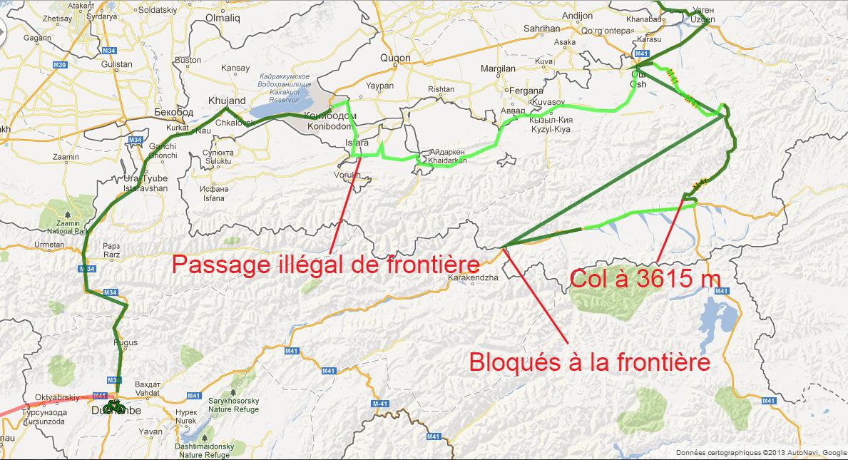Carte de la région pour mieux comprendre