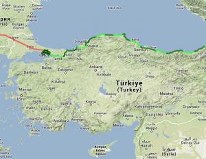 Carte de notre trajet en Turquie