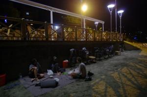 La camp du soir