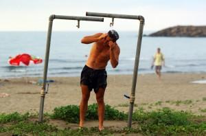 La douche sur la plage