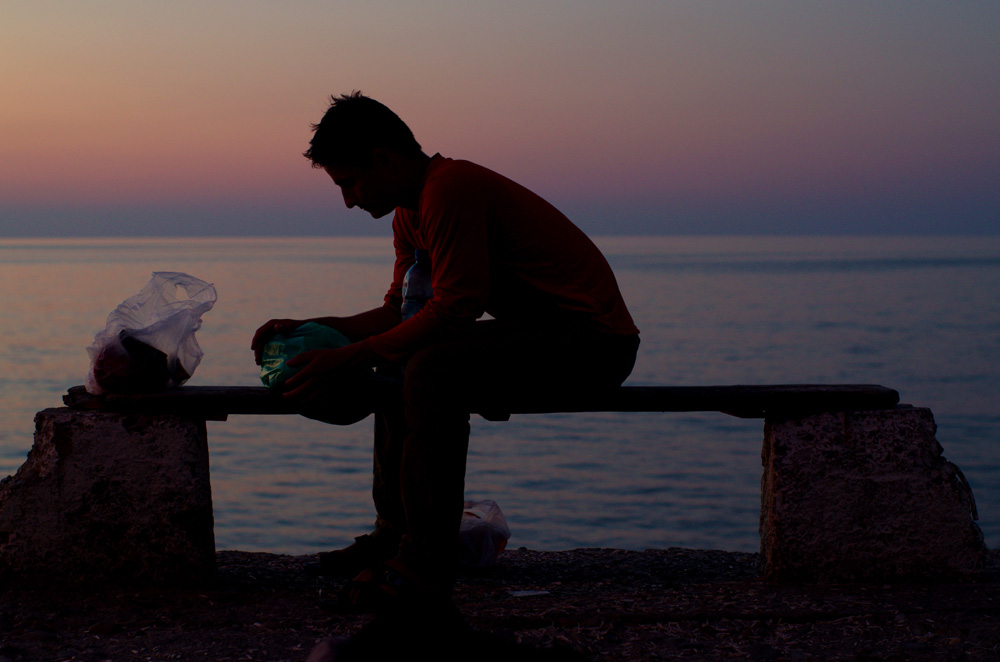 """Brian : """"Après plusieurs années sur les routes, nous nous sommes habitués à vivre dehors. Au début, je ne m'y sentais pas forcément confortable. Mais maintenant, j'ai appris à apprécier tous les coins que nous trouvons pour dormir, manger, faire une pause... En fait, en vivant dehors, on est confrontés beaucoup plus fréquemment à un beau coucher de soleil ou à une heureuse rencontre, et l'esprit Solidream c'est ça pour moi."""""""