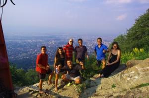 Sur les hauteurs de Sofia avec Martin, Anatoli, Sveti et Diliana